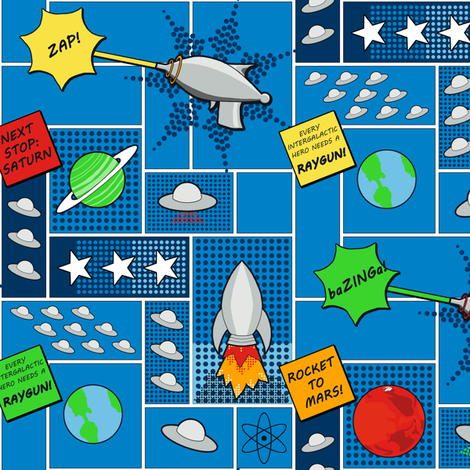 Intergalactic Hero fabric by fig+fence on Spoonflower - custom fabric