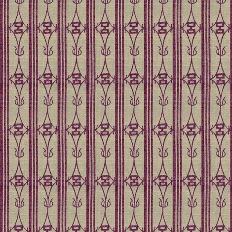 Diamond Stripe - plum and warm grey fabric by materialsgirl on Spoonflower - custom fabric