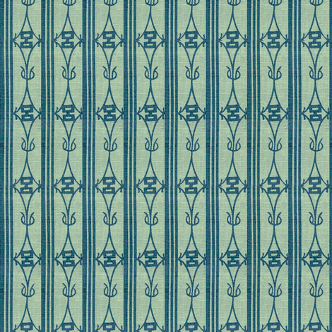 Diamond Stripe - teal and light turquioise green fabric by materialsgirl on Spoonflower - custom fabric