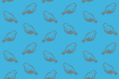 Bluebirds fabric by randomarticle on Spoonflower - custom fabric