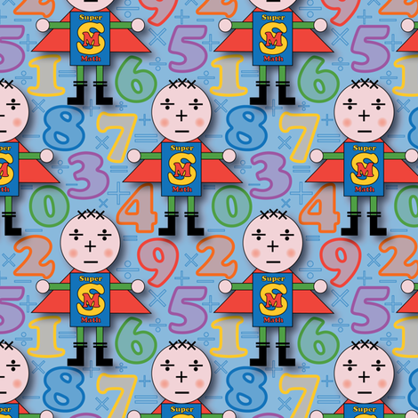 SuperMath fabric by jjtrends on Spoonflower - custom fabric