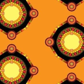 Orange Medallion