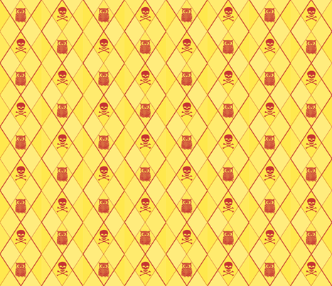 skullowl fabric by greekgirl on Spoonflower - custom fabric