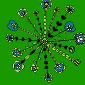 Floral_Spokes_Green_Blue_Yellow_White