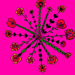 Floral_Spokes_Red_Pink__Orange_Green