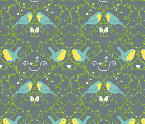 bird tapestry fabric by youngcaptive on Spoonflower - custom fabric