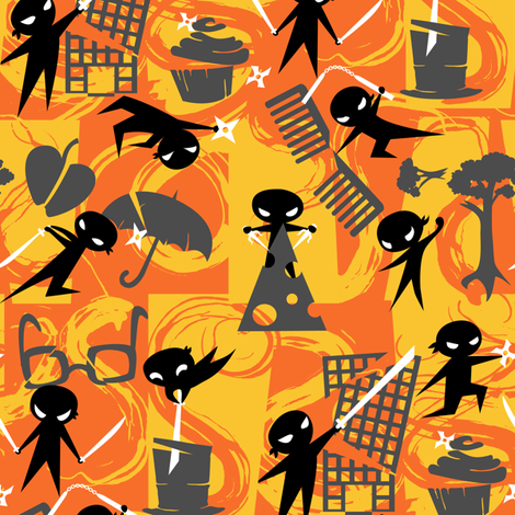 Shadow Ninjas! fabric by jillianmorris on Spoonflower - custom fabric
