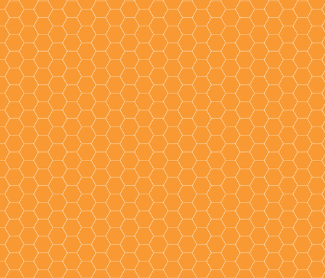 Really Orange Honeycomb fabric by oceanpien on Spoonflower - custom fabric