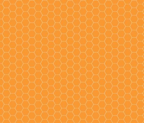 Really Orange Honeycomb fabric by oceanpien on Spoonflower - custom fabric