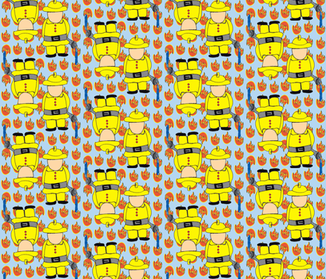 My Hero is... A Fireman! fabric by missjessm on Spoonflower - custom fabric