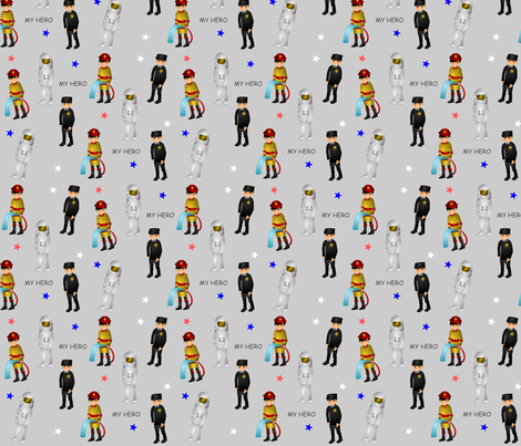 Childhood Hero's fabric by kbkline on Spoonflower - custom fabric