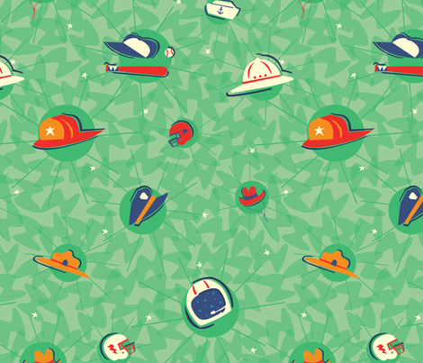 Hero Hats fabric by acbeilke on Spoonflower - custom fabric