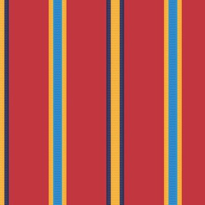 Medal Stripe - in true red