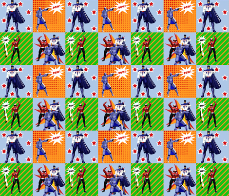 SUPERHEROES fabric by arttreedesigns on Spoonflower - custom fabric