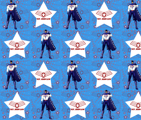 SGT. JOHN LAW fabric by arttreedesigns on Spoonflower - custom fabric