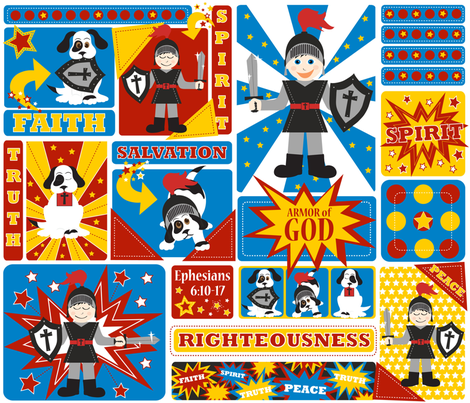 I AM a Superhero fabric by jenniferfranklin on Spoonflower - custom fabric