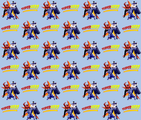 SUPERHERO fabric by arttreedesigns on Spoonflower - custom fabric