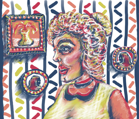The Woman fabric by amy_g on Spoonflower - custom fabric