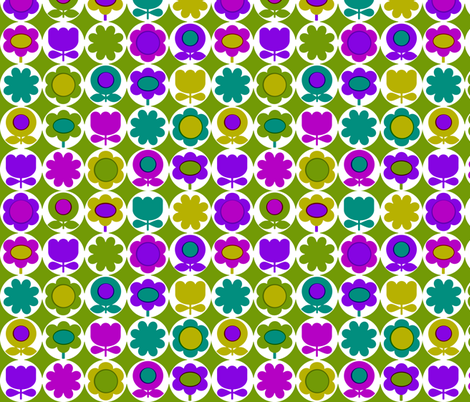 mod_circles_green fabric by aliceapple on Spoonflower - custom fabric