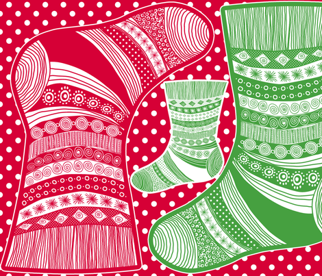 christmass stockings fabric by nadja_petremand on Spoonflower - custom fabric