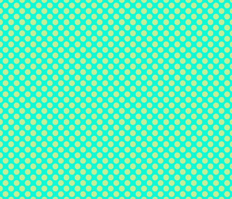 dumb dot teal lime fabric by katarina on Spoonflower - custom fabric
