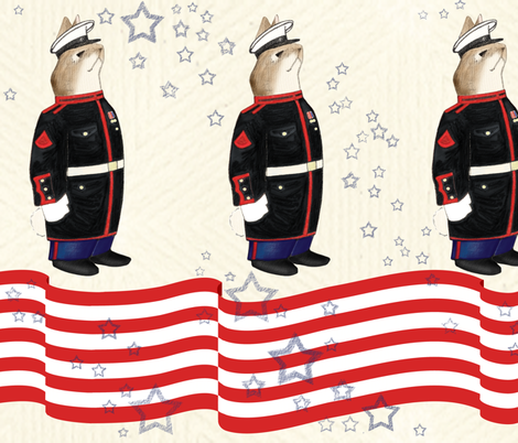 Velveteen_Marine fabric by ladycaviar on Spoonflower - custom fabric