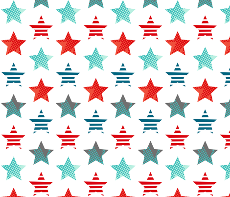 Hero stars white fabric by cjldesigns on Spoonflower - custom fabric