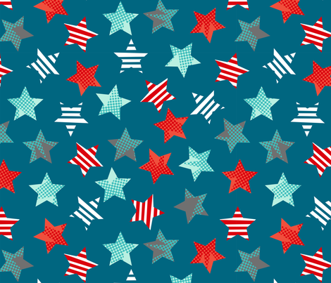 Hero stars multi directional fabric by cjldesigns on Spoonflower - custom fabric