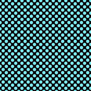 dots black aqua