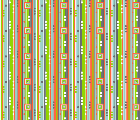 Tangerine Stripe fabric by wild_berry on Spoonflower - custom fabric