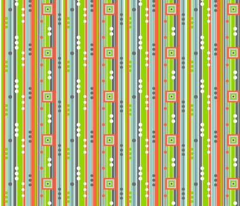 Tangerine Stripe fabric by wild_berry on Spoonflower - custom fabric