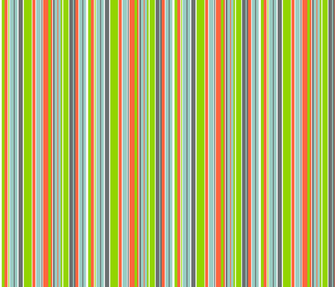 Striped Tangerine fabric by wild_berry on Spoonflower - custom fabric