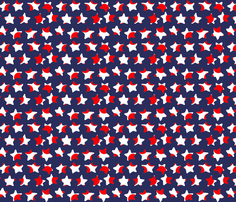 stars red white blue fabric by katarina on Spoonflower - custom fabric