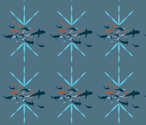 sharksblue fabric by maggie1 on Spoonflower - custom fabric