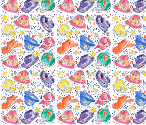 Be_My_Hero_Color_8x8 fabric by firebelle on Spoonflower - custom fabric