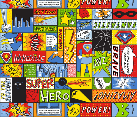 AmandaMcGee_ActionHero fabric by amandamcgee on Spoonflower - custom fabric