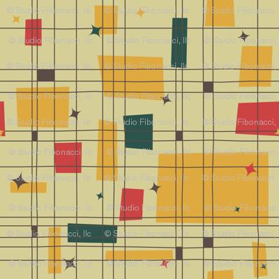 Mid-Century Modern - Grid & Stars