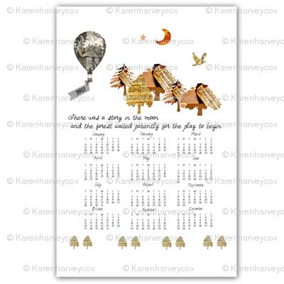 2013 Calendar fabric and wallpaper