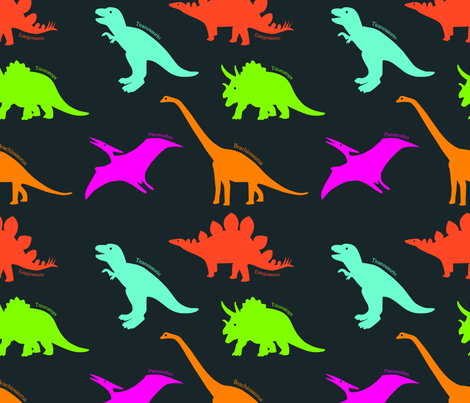 Dino land grey fabric by valmo on Spoonflower - custom fabric