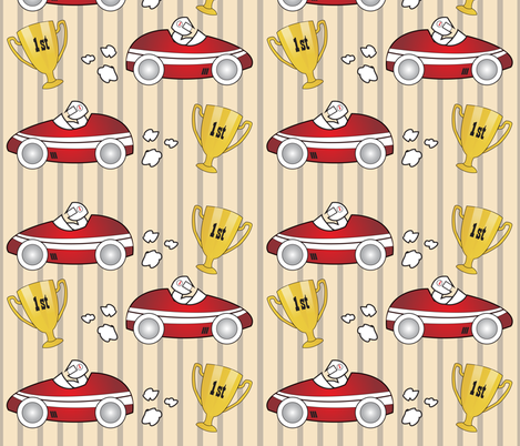 Epuyat_racecarHero fabric by epuyat on Spoonflower - custom fabric