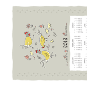 feeling peckish 2013 calendar towel