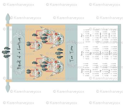 Birds of a Feather 2013 Calendar tea towel