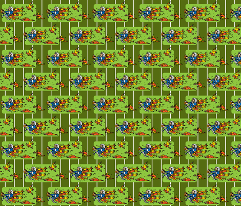 Be My Football Hero fabric by ruthevelyn on Spoonflower - custom fabric