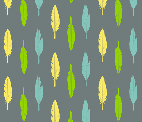 feathers-2 fabric by edlasher on Spoonflower - custom fabric
