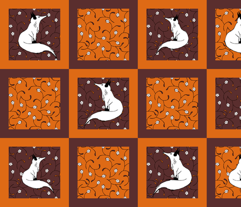 Thanksgiving/ Fall Cocktail Napkins fabric by pond_ripple on Spoonflower - custom fabric