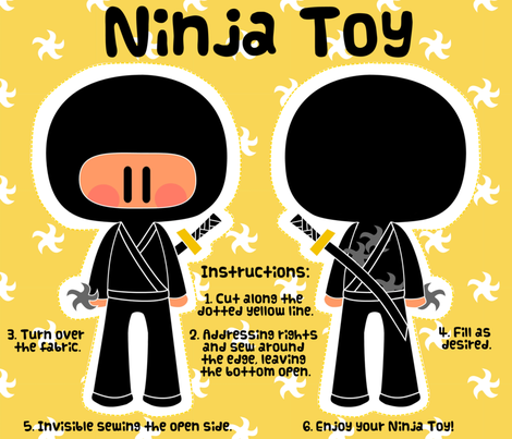 Ninja Toy fabric by sawabona on Spoonflower - custom fabric