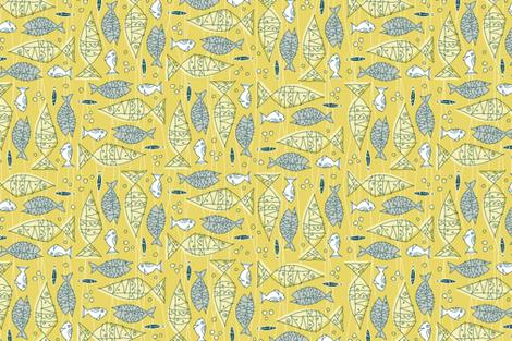 something's fishy tea towel fabric by brandbird on Spoonflower - custom fabric