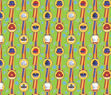 My Dad, My Hero!  - in power-up green fabric by hootenannit on Spoonflower - custom fabric