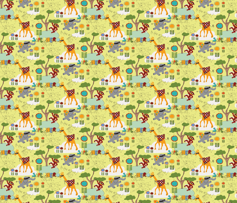 superhero_safari_justine_aldersey_williams_2012 fabric by justine_aldersey-williams on Spoonflower - custom fabric