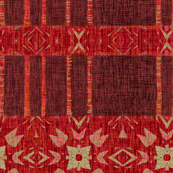 Red Ikat Threads
